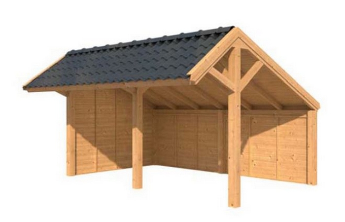 Les abris de jardin modulables lhv lhv for Cabanon en bois 20m2