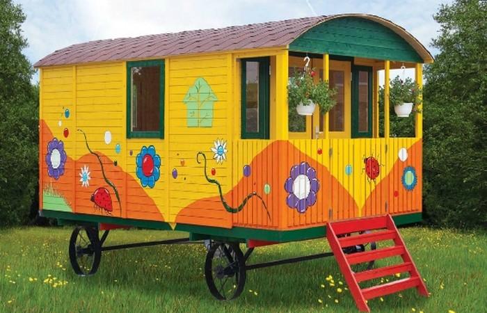 woonwagen geschilderd
